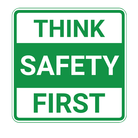 Think safety first sign Imagens - 100131626
