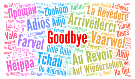 Goodbye in different languages word cloud Banco de Imagens - 100123086