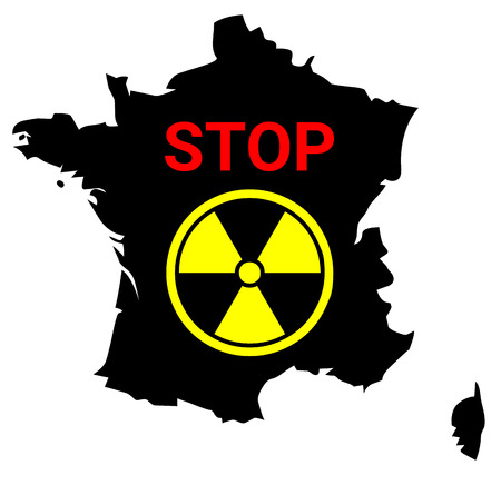 Stop nuclear in France Stock Photo