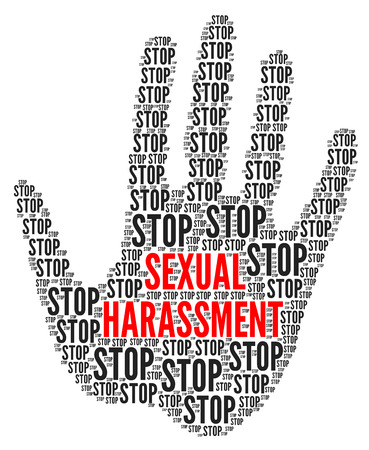 Stop sexual harassment illustration Stok Fotoğraf