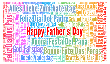 Happy Father's day in different languages Stock Photo