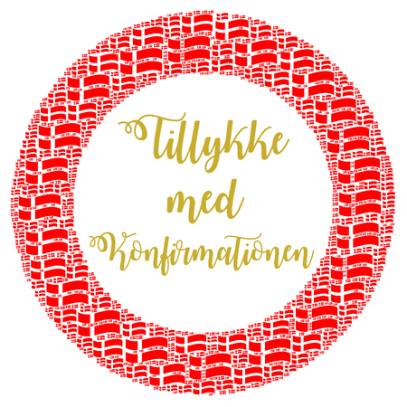 Congratulations with your confirmation in Danish Stock fotó