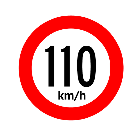 Speed limit traffic sign 110 Banque d'images - 101255962