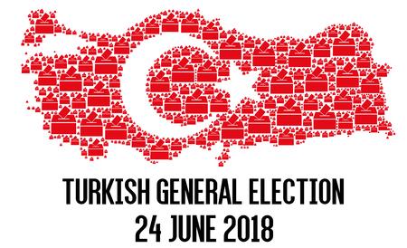 Turkish general election 2018 illustration Stock Photo