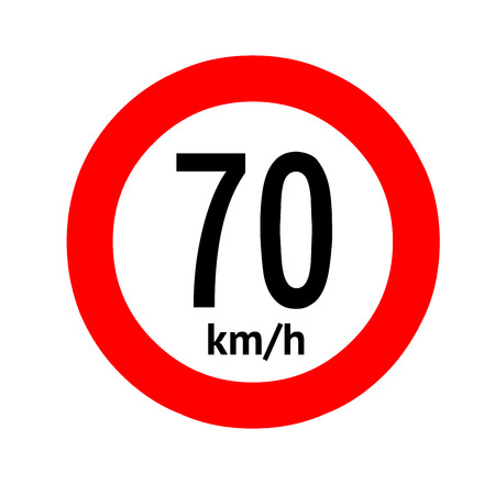 Speed limit traffic sign 70 Banque d'images - 101255972