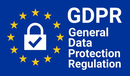 GDPR, general data protection regulation sign illustration