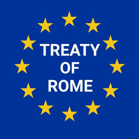 Ilustración del Tratado de Roma