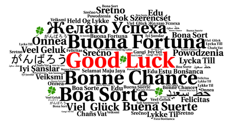 Good luck word cloud in different languages Stock Photo