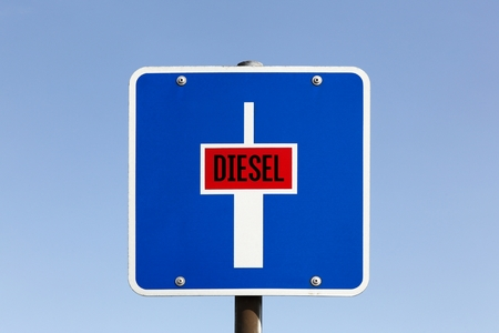 Diesel dead end sign