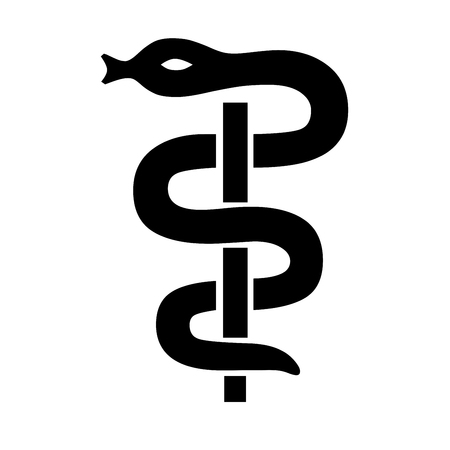 Caduceus medical symbol illustration