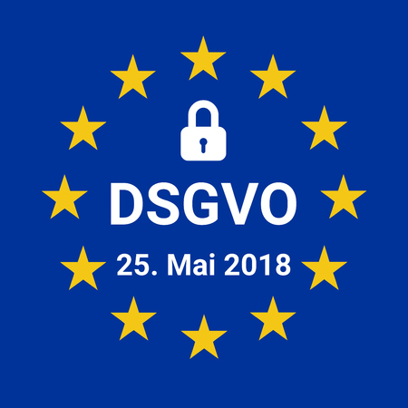 GDPR sign illustration called DSGVO in German language Stock Photo