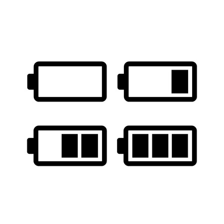 Battery icons set illustration