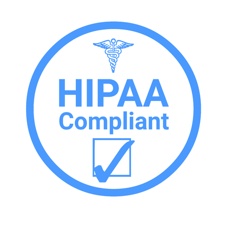 Hipaa compliant sign illustration Stock fotó