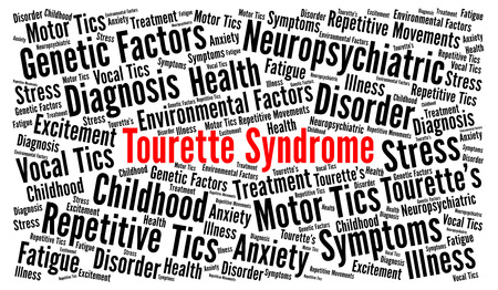 Tourette syndrome word cloud