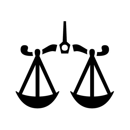 Law scale icon illustration