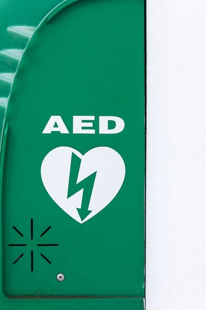 Aed Automated External Defibrillator Sign Stock Photo Picture And