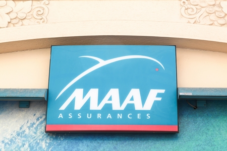 Villefranche, France - June 11, 2017:. MAAF Assurances is a French mutual insurance company