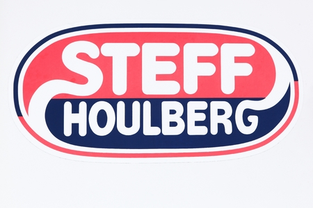 Malling, Denmark - August 1, 2017: Steff Houlberg on a wall. Steff Houlberg is a brand under Danish Crown, which supplies fast food and butchers to both restaurators and supermarkets