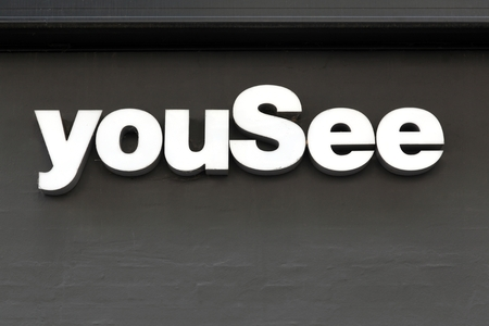 Odense, Denmark - August 16, 2018: YouSee is the largest quadruple play service provider in Denmark and is a subsidiary of TDC Group, the largest telecommunications company in Denmark Editorial