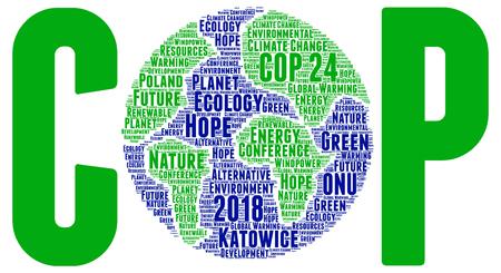 COP 24 in Katowice, Poland word cloud Stock Photo