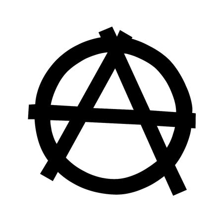 Anarchy symbol isolated on white background