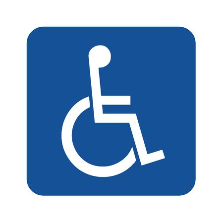 Handicap or wheelchair person symbol Stockfoto