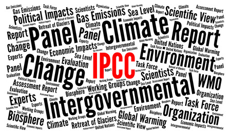 IPCC word cloud illustration Stock Photo