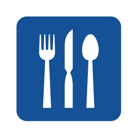 Blue restaurant icon illustration Stock Photo