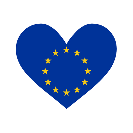 Love Europe symbol illustration Foto de archivo