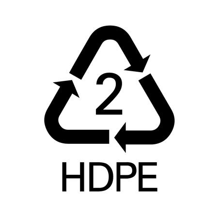 HDPE symbol icon illustration
