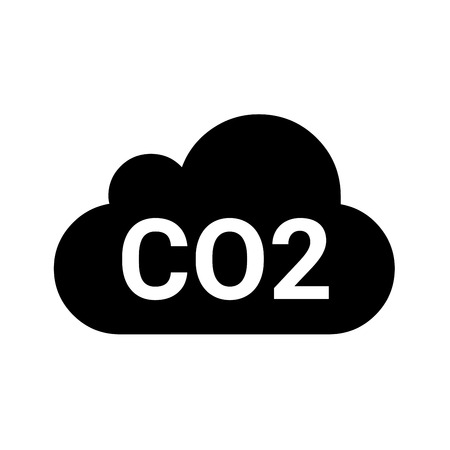 CO2 symbol icon Stock fotó