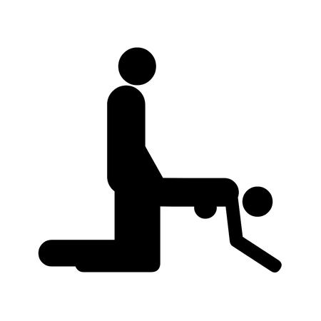 Sexual position icon illustration