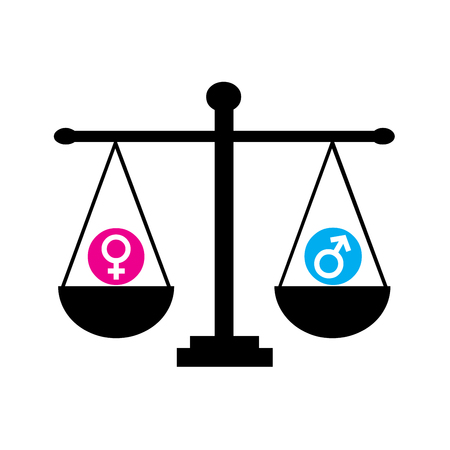 Gender equality symbol with a white background Фото со стока