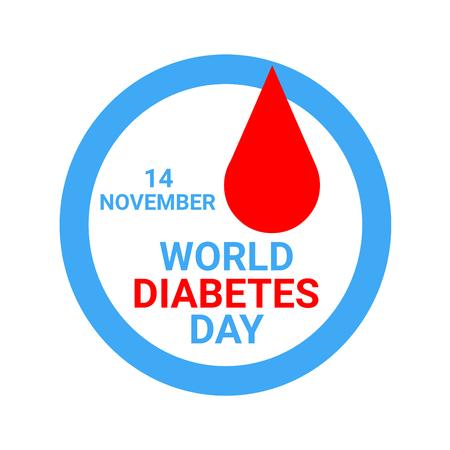 World diabetes day illustration