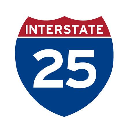 nterstate highway 25 road sign