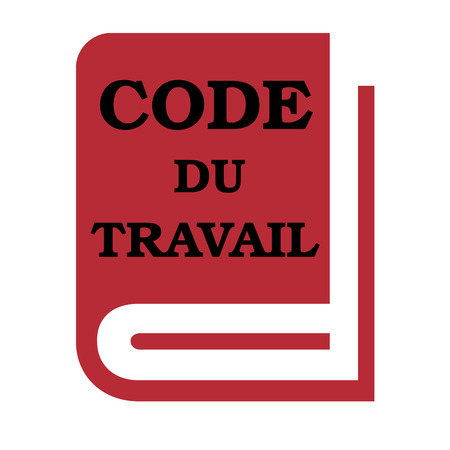 French labor code book called code du travail in French Stok Fotoğraf