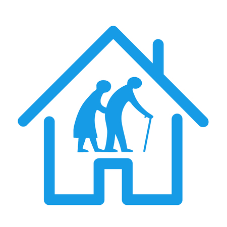 Retirement house icon illustration