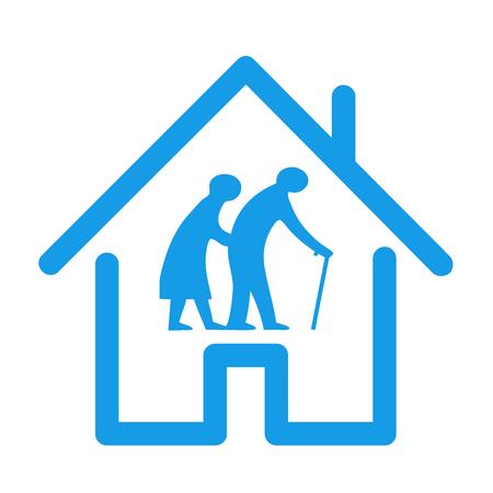 Retirement house icon illustration