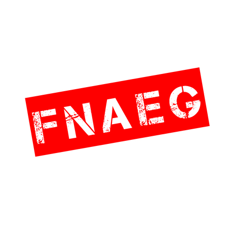 Automated national file of genetic prints in France called FNAEG in French Stockfoto - 117724585