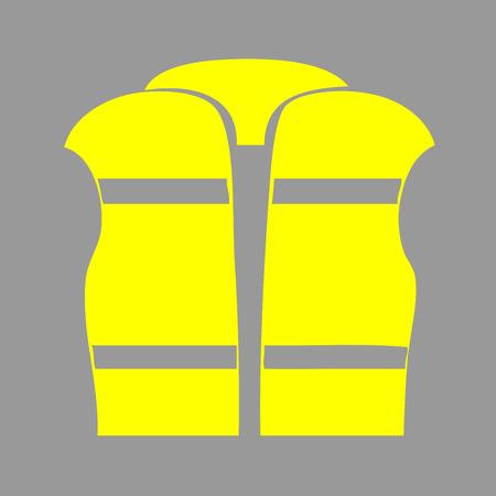 Yellow vest icon illustration