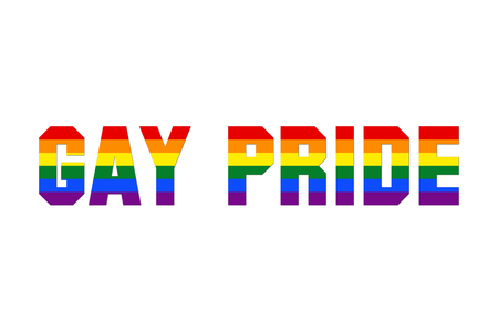 Colorful gay pride sign