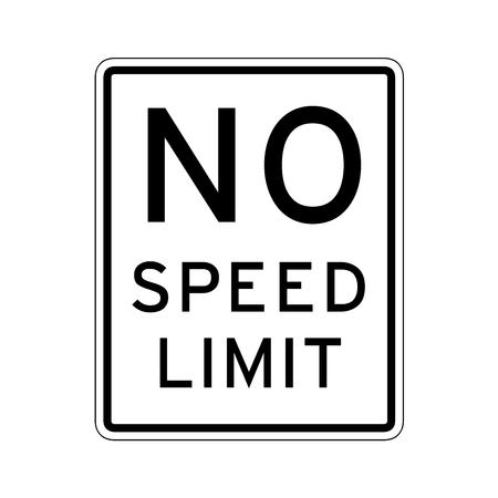 Aucun panneau de signalisation de limite de vitesse aux États-Unis