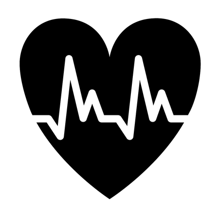 Cardiology symbol icon illustration Фото со стока