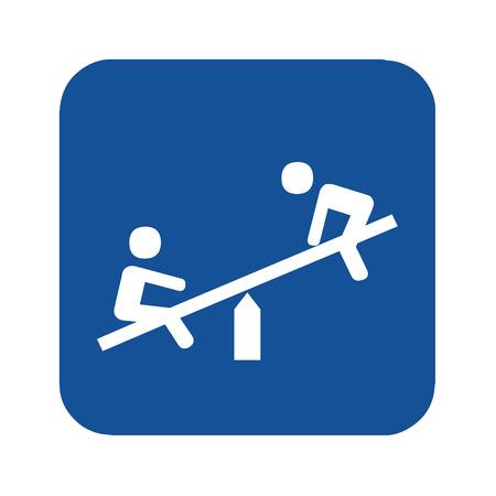 Playground seasaw symbol illustration