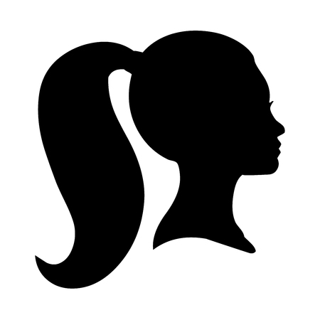 Portrait and silhouette of a woman Standard-Bild - 119383727