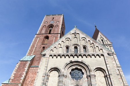 The cathedral of Ribe in Denmark Imagens
