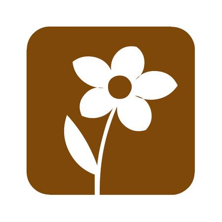 Brown formal garden sign