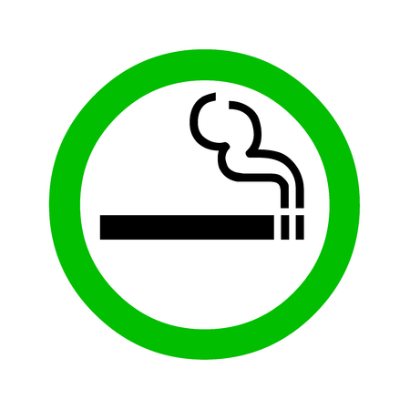 Smoking area sign illustration