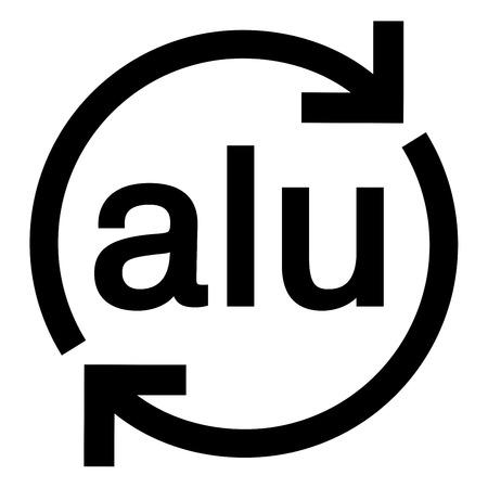 Illustration du symbole de recyclage de l'aluminium