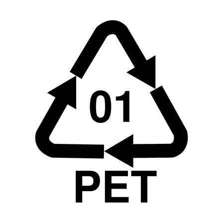 PET recycling symbol illustration